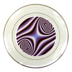 Fractal Background With Curves Created From Checkboard Porcelain Plates