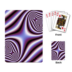 Fractal Background With Curves Created From Checkboard Playing Card