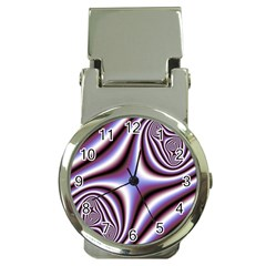 Fractal Background With Curves Created From Checkboard Money Clip Watches