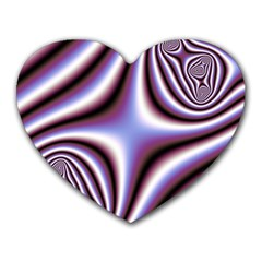 Fractal Background With Curves Created From Checkboard Heart Mousepads