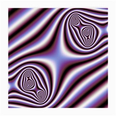 Fractal Background With Curves Created From Checkboard Medium Glasses Cloth (2 Side)