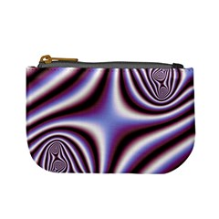 Fractal Background With Curves Created From Checkboard Mini Coin Purses