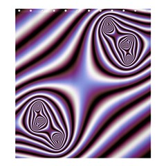 Fractal Background With Curves Created From Checkboard Shower Curtain 66  X 72  (large)