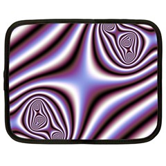 Fractal Background With Curves Created From Checkboard Netbook Case (xl)