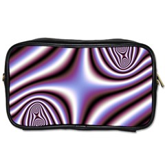 Fractal Background With Curves Created From Checkboard Toiletries Bags 2 Side