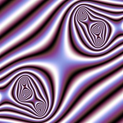 Fractal Background With Curves Created From Checkboard Magic Photo Cubes
