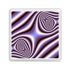 Fractal Background With Curves Created From Checkboard Memory Card Reader (square)