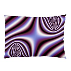 Fractal Background With Curves Created From Checkboard Pillow Case (two Sides)