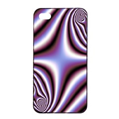 Fractal Background With Curves Created From Checkboard Apple Iphone 4/4s Seamless Case (black)