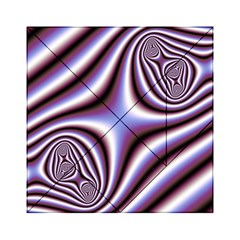 Fractal Background With Curves Created From Checkboard Acrylic Tangram Puzzle (6  x 6 )