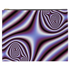 Fractal Background With Curves Created From Checkboard Cosmetic Bag (XXXL)