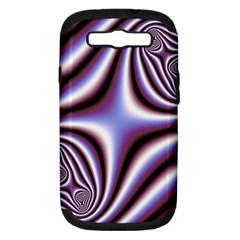 Fractal Background With Curves Created From Checkboard Samsung Galaxy S III Hardshell Case (PC+Silicone)