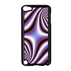 Fractal Background With Curves Created From Checkboard Apple Ipod Touch 5 Case (black)