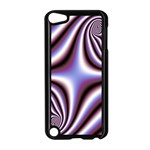 Fractal Background With Curves Created From Checkboard Apple iPod Touch 5 Case (Black) Front
