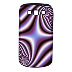 Fractal Background With Curves Created From Checkboard Samsung Galaxy S III Classic Hardshell Case (PC+Silicone)