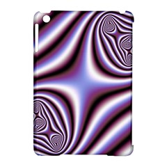 Fractal Background With Curves Created From Checkboard Apple Ipad Mini Hardshell Case (compatible With Smart Cover)