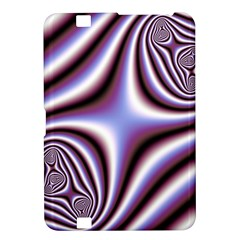 Fractal Background With Curves Created From Checkboard Kindle Fire HD 8.9