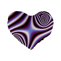 Fractal Background With Curves Created From Checkboard Standard 16  Premium Heart Shape Cushions
