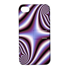Fractal Background With Curves Created From Checkboard Apple iPhone 4/4S Hardshell Case with Stand