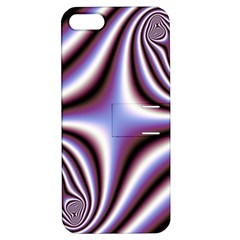 Fractal Background With Curves Created From Checkboard Apple iPhone 5 Hardshell Case with Stand