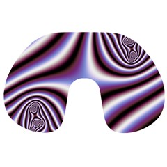 Fractal Background With Curves Created From Checkboard Travel Neck Pillows
