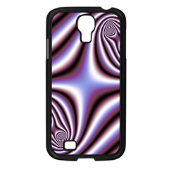 Fractal Background With Curves Created From Checkboard Samsung Galaxy S4 I9500/ I9505 Case (Black)