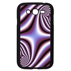 Fractal Background With Curves Created From Checkboard Samsung Galaxy Grand DUOS I9082 Case (Black)