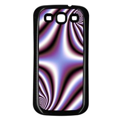 Fractal Background With Curves Created From Checkboard Samsung Galaxy S3 Back Case (Black)