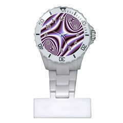 Fractal Background With Curves Created From Checkboard Plastic Nurses Watch