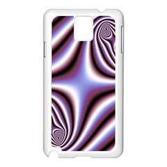 Fractal Background With Curves Created From Checkboard Samsung Galaxy Note 3 N9005 Case (white)