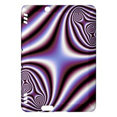 Fractal Background With Curves Created From Checkboard Kindle Fire HDX Hardshell Case