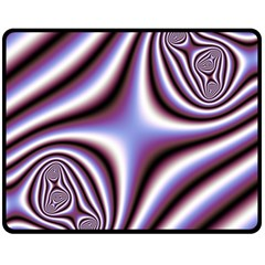 Fractal Background With Curves Created From Checkboard Double Sided Fleece Blanket (Medium)