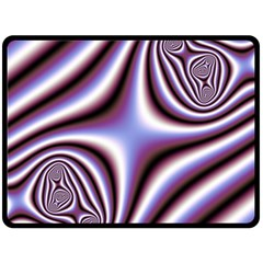 Fractal Background With Curves Created From Checkboard Double Sided Fleece Blanket (Large)