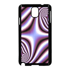 Fractal Background With Curves Created From Checkboard Samsung Galaxy Note 3 Neo Hardshell Case (Black)