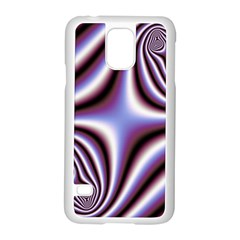 Fractal Background With Curves Created From Checkboard Samsung Galaxy S5 Case (White)