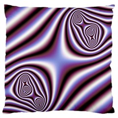 Fractal Background With Curves Created From Checkboard Standard Flano Cushion Case (Two Sides)