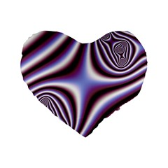 Fractal Background With Curves Created From Checkboard Standard 16  Premium Flano Heart Shape Cushions