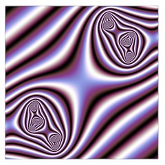 Fractal Background With Curves Created From Checkboard Large Satin Scarf (Square)