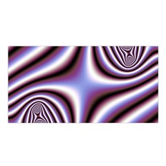 Fractal Background With Curves Created From Checkboard Satin Shawl