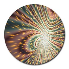 Vortex Glow Abstract Background Round Mousepads