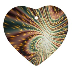 Vortex Glow Abstract Background Ornament (heart)