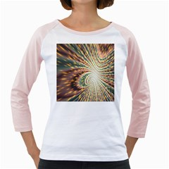 Vortex Glow Abstract Background Girly Raglans