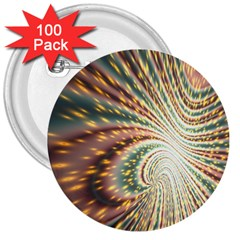 Vortex Glow Abstract Background 3  Buttons (100 pack)