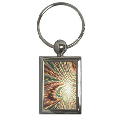 Vortex Glow Abstract Background Key Chains (rectangle)