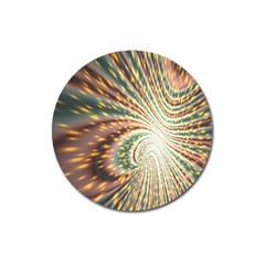 Vortex Glow Abstract Background Magnet 3  (round)
