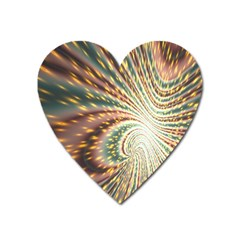Vortex Glow Abstract Background Heart Magnet