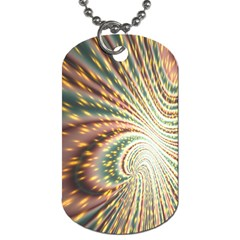 Vortex Glow Abstract Background Dog Tag (two Sides)