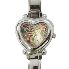 Vortex Glow Abstract Background Heart Italian Charm Watch