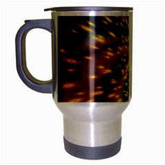 Vortex Glow Abstract Background Travel Mug (Silver Gray)