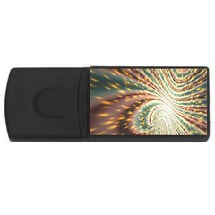 Vortex Glow Abstract Background Usb Flash Drive Rectangular (4 Gb)